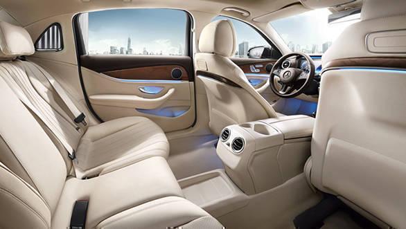 Mercedes e class chauffeur hire interior