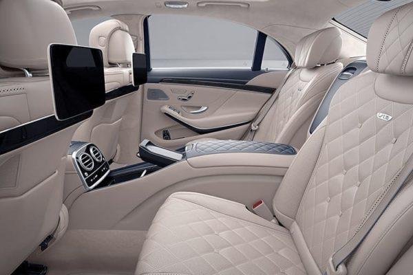 Mercedes S class hire interior