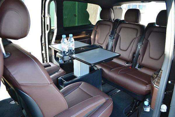 Mercedes V class hire interior