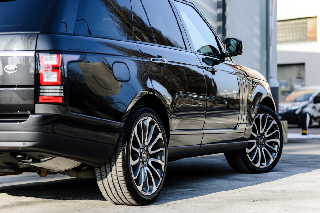 Black range rover car hire
